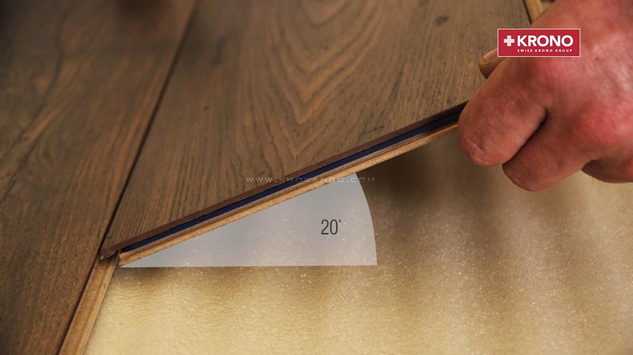 Sàn gỗ Kronopol D2597 lắp đặt