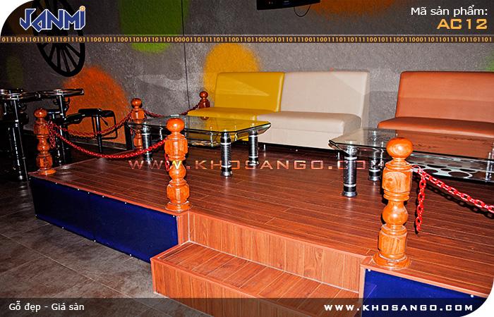 Sàn gỗ JANMI AC12- Lót sàn gỗ quán cafe - bar