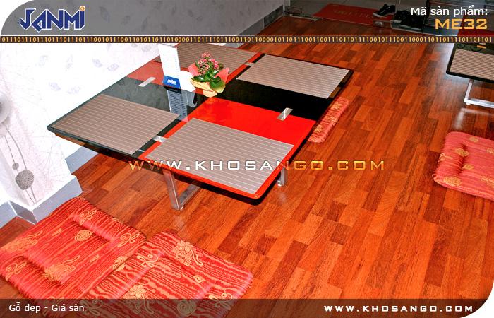 Sàn gỗ JANMI ME32 - Lót sàn gỗ quán ăn