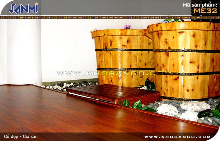 Sàn gỗ JANMI ME32 - Lót sàn gỗ spa - xông hơi