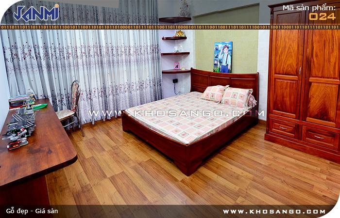 Sàn gỗ JANMI O24 -Lót sàn gỗ phòng ngủ