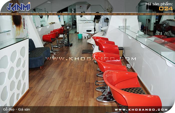 Sàn gỗ JANMI O24 -Lót sàn salon chăm sóc tóc