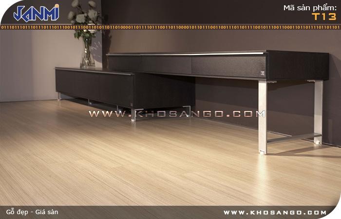 Sàn gỗ JANMI T13-Lót sàn gỗ phòng khách