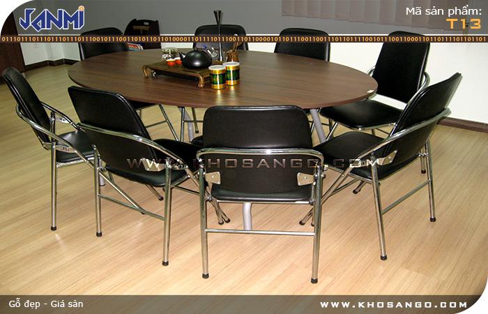 Sàn gỗ JANMI T13 - Lót sàn gỗ phòng ăn