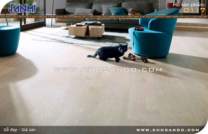 Sàn gỗ JANMI O117 - Lót sàn gỗ phòng khách