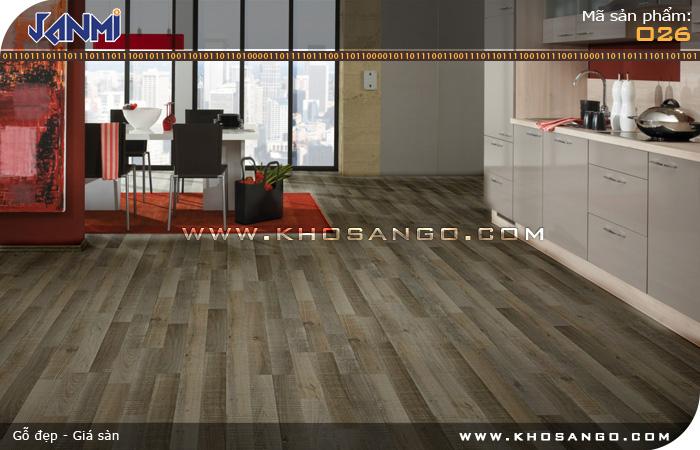 Sàn gỗ JANMI O26 - Lót sàn gỗ nhà bếp