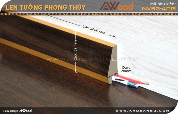 len tường phong thuỷ NV52-40G