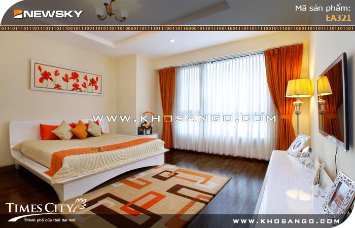 Sàn gỗ công nghiệp Newsky EA321 lót sàn phòng ngủ
