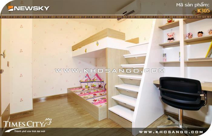 Sàn gỗ công nghiệp Newsky K305 lót sàn phòng ngủ
