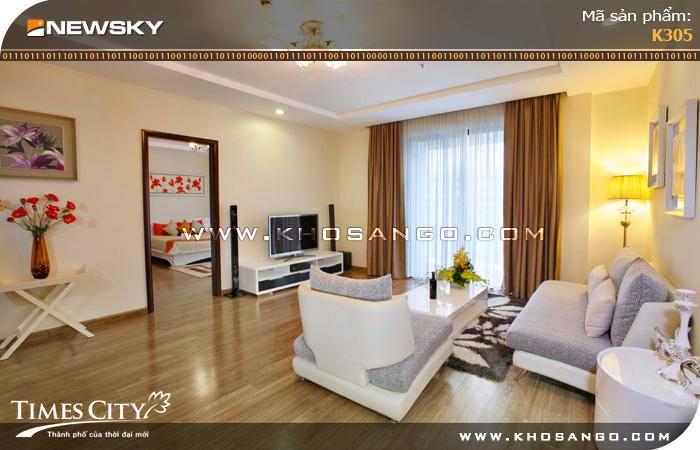 Sàn gỗ công nghiệp Newsky K305 lót sàn phòng khách
