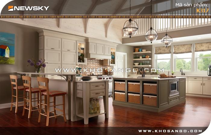 Sàn gỗ công nghiệp Newsky K317 lót sàn phòng bếp