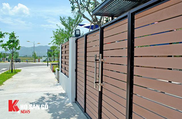 Ốp cổng tại nhà mẫu Nha Trang