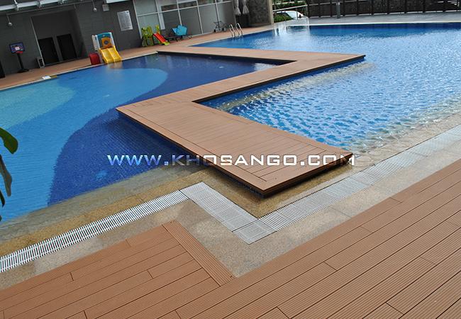 Lắp đặt sàn gỗ hồ bơi ngoài trời