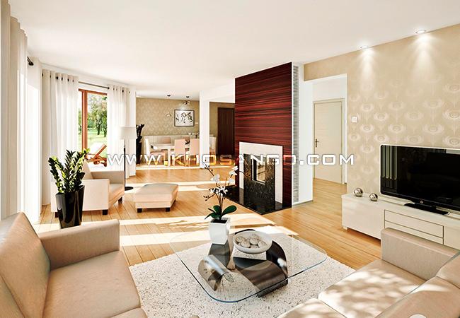 Sàn gỗ lót sàn phòng khách sang trọng