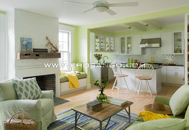 sàn gỗ lót sàn phòng bếp