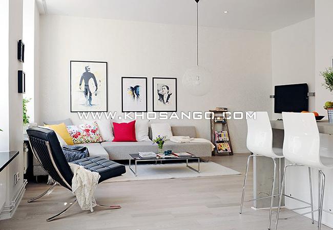 sàn gỗ lót sàn phòng khách