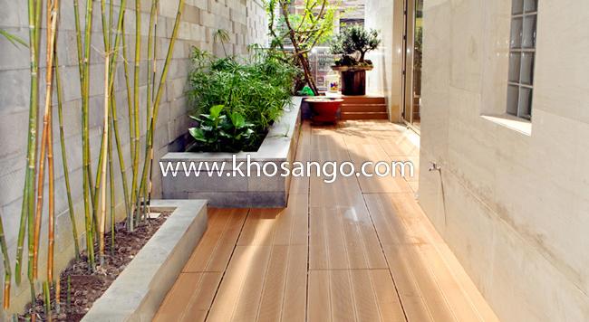 Sàn gỗ lối đi sân vườn