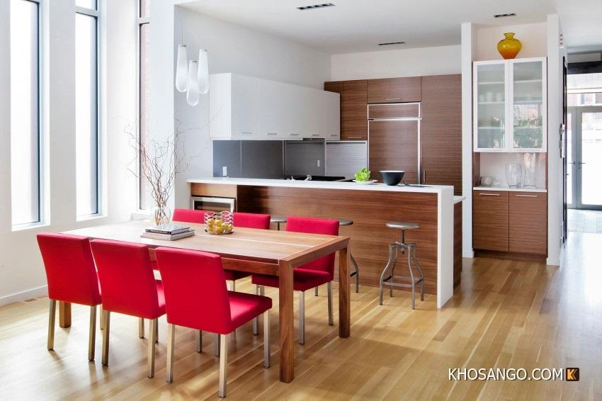 sàn gỗ phòng bếp