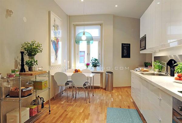 sàn gỗ nhà bếp cho gia đình