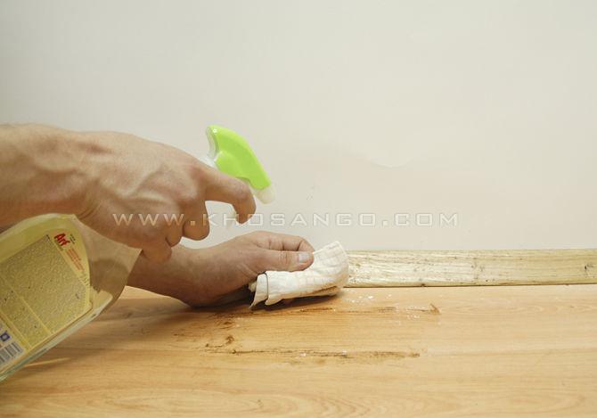 bước 4 loại bỏ vết ố sàn gỗ